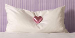Chocolate on pillow