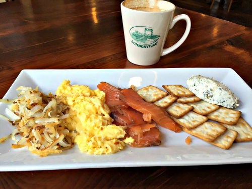 Scotch Woodcock breakfast; photo courtesy Lumberville General Store
