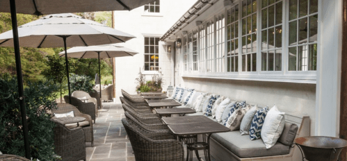 Outdoor seating, Golden Pheasant Inn