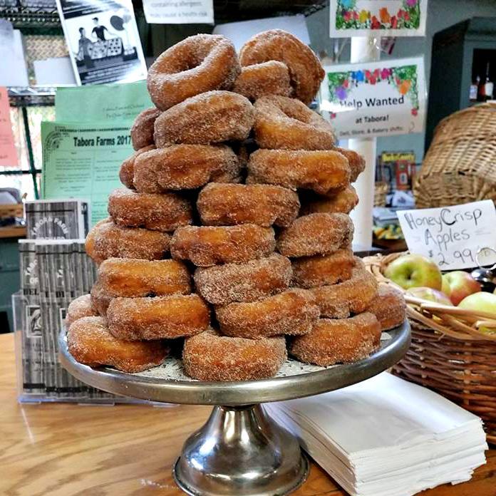 Apple cider donuts at Tabora Farms; photo courtesy Tabora Farm