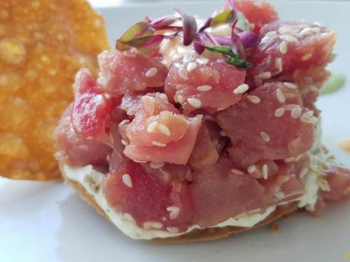 Tuna tartare_photo credit Craig Schwartz_Royal T's at the Mansion Inn