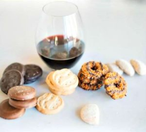 Sand Castle Winery Girl Scout Cookies and wine tasting