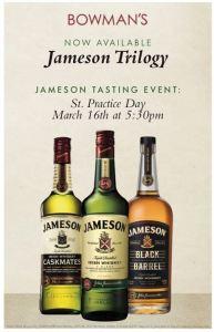 Bowman's Tavern Jameson Tasting
