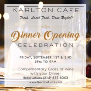Dinner Opening celebration at Karlton Cafe