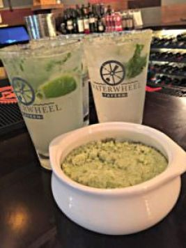 Lime Basil Mojito and basil sugar; photo credit Lynne Goldman