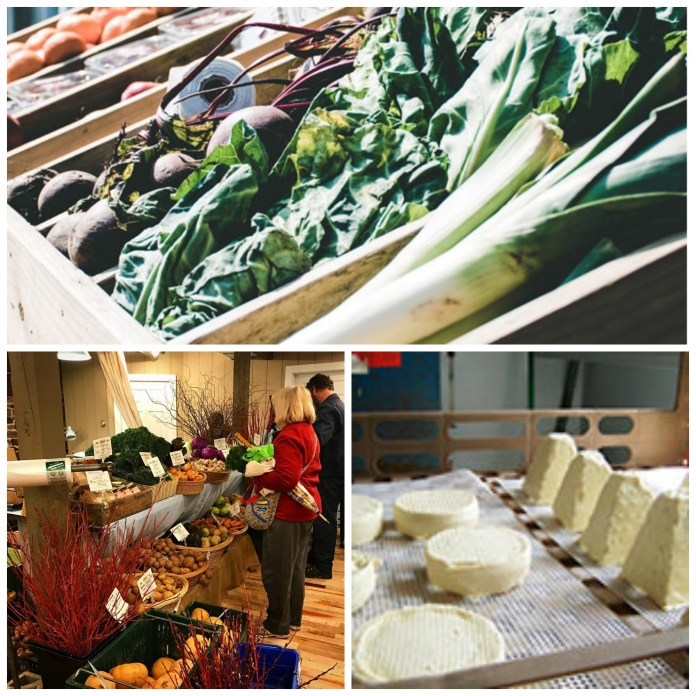 Farmers markets and cheeses in Bucks