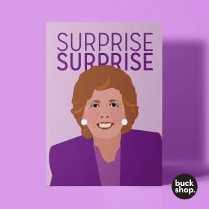Surprise Surprise - Cilla Black inspired Greeting Card by BuckShop.co.uk