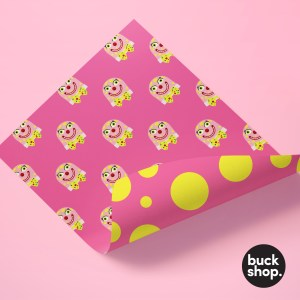 Mr Blobby inspired Wrapping Paper