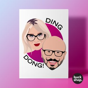 Ding Dong! - Glow Up inspired Greeting Card, Birthday Card