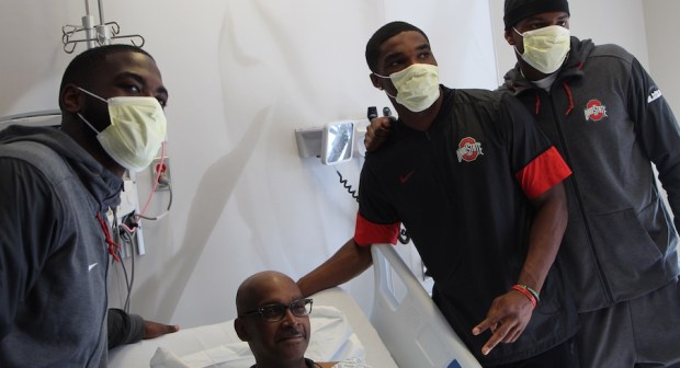 Ohio State Football Players Give and Receive Inspiration in Trip to James Cancer Hospital