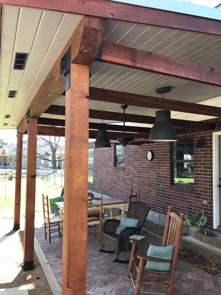 Porch Cover Pergola Amp Shade Arbor In College Station Buck The Builder
