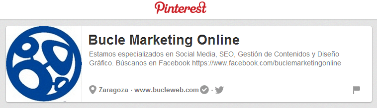Bucle Marketing Web en Pinterest