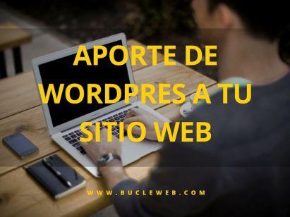 aporte de wordpress