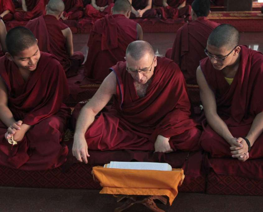Monks at Gaden Shatse Monastery