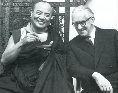 The 16th Karmapa and Christmas Humphreys in London, 1977