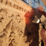 Buddhist Centre Renovation: restoring plasterwork