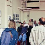 A tour group at the exhibition of Beaufoy Institute history