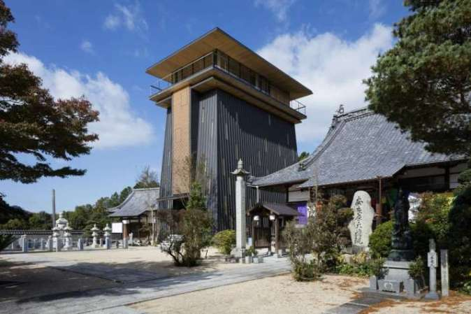 Japanese Architect Designs Modern Ancestral Hall Referencing     The  i ihaid      i  at Korin Ji Temple  From