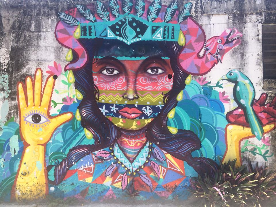 Mural in Tulum, Mexico – photo by Mira Stern
