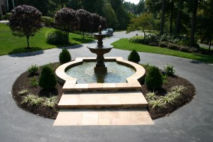Courtyard with fountain construction and design in Howard County, Baltimore, Carroll, Frederick & Montgomery counties