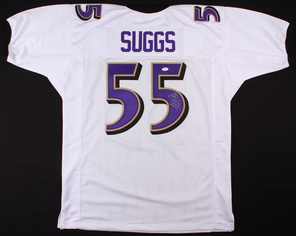 Terrell Suggs Signed Baltimore Ravens White Jersey » Budd's Collectibles