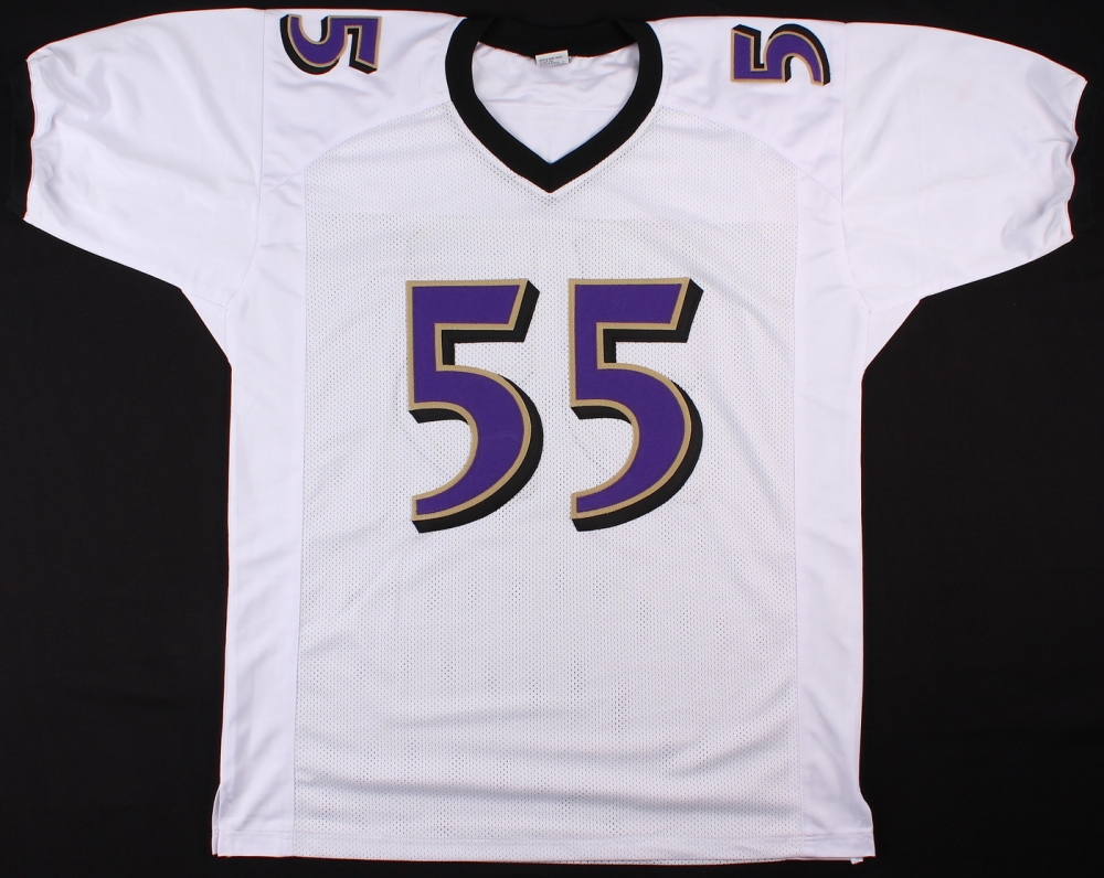 Terrell Suggs Signed Baltimore Ravens White Jersey » Budd's ...