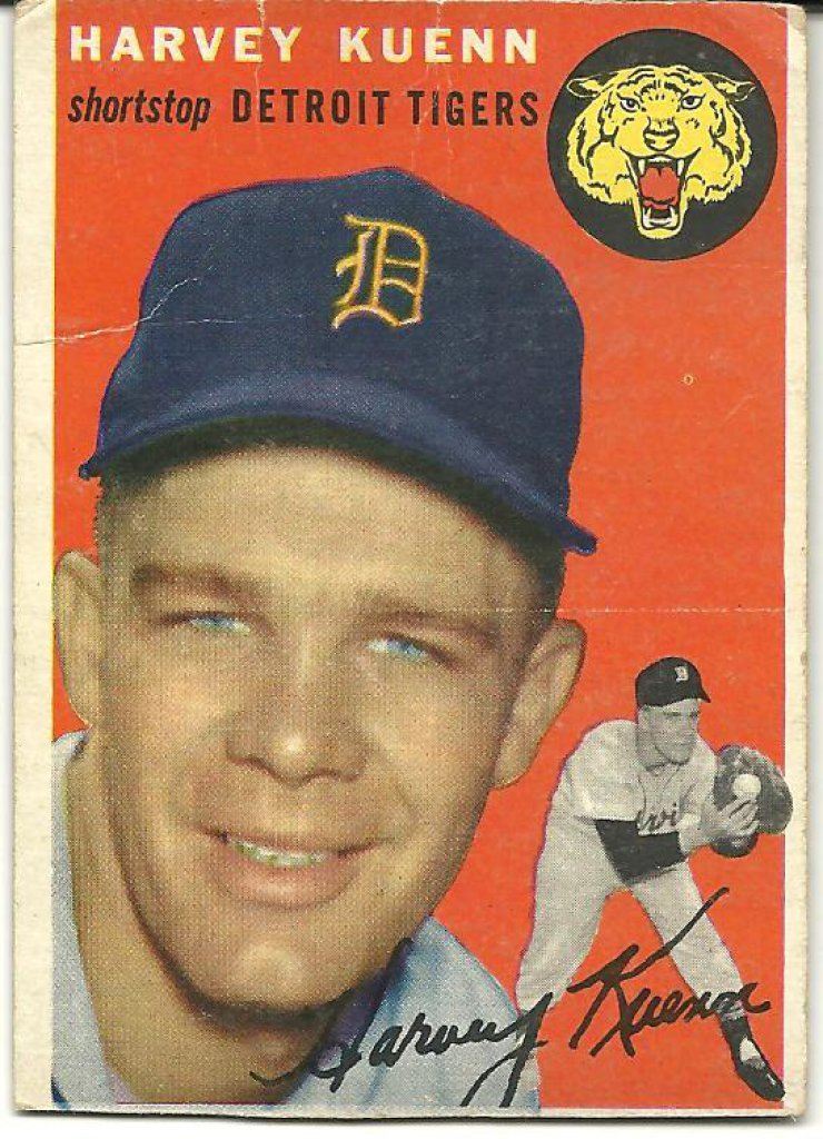 Harvey Kuenn Detroit Tigers 1954 Topps Rookie Card 25 Budds Collectibles