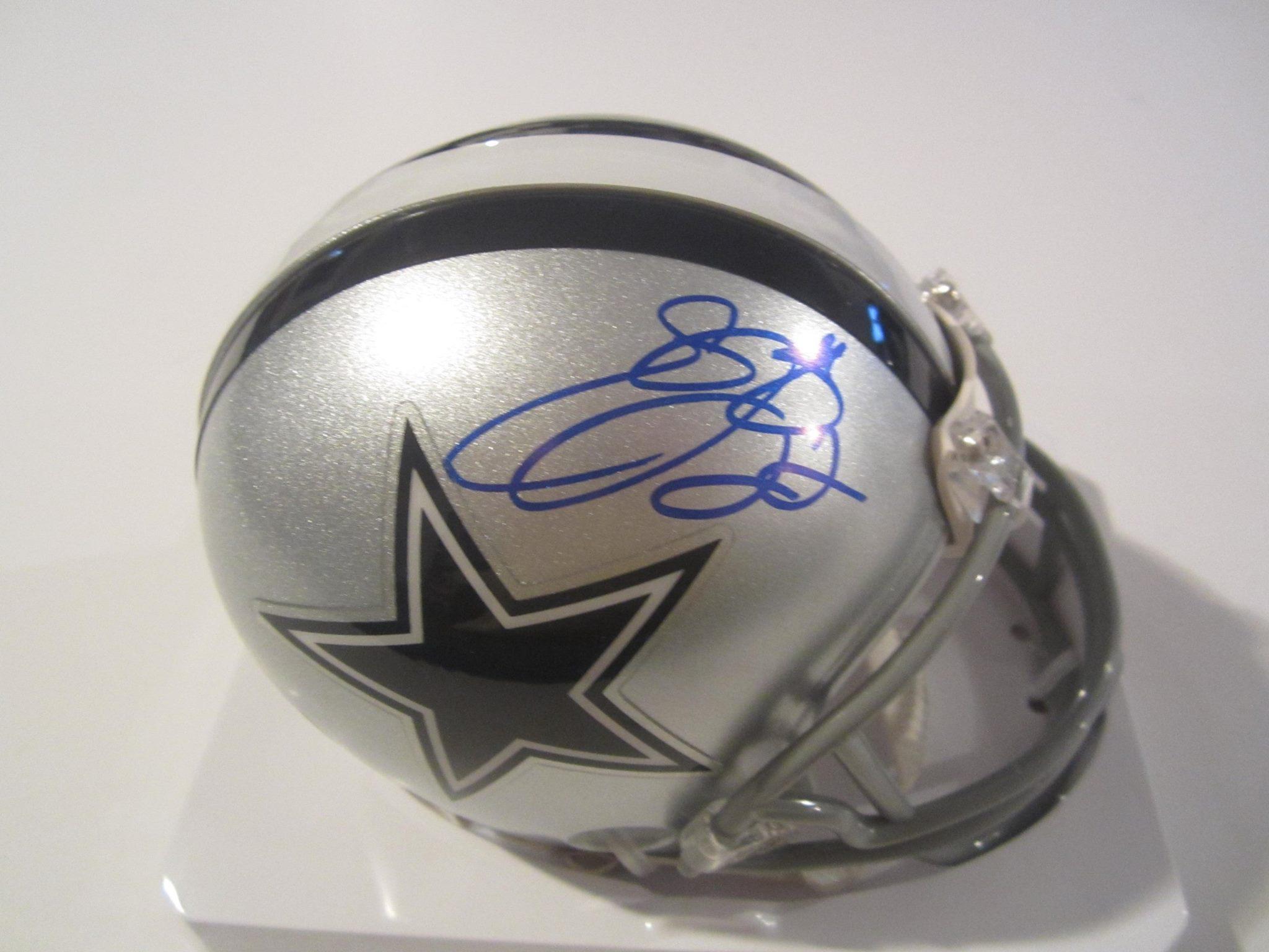 6ae2e57b2 Emmitt Smith Signed dallas Cowboys Mini Helmet