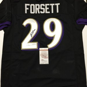 c3abe3efaf3 Justin Forsett Signed Baltimore Ravens Black Custom Jersey