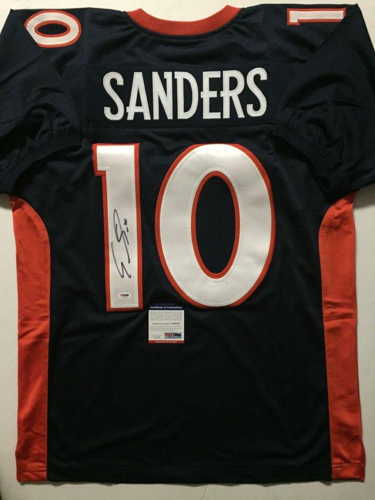 competitive price 782c6 09752 EMMANUEL SANDERS Denver Broncos Signed Blue Jersey » Budd's Collectibles