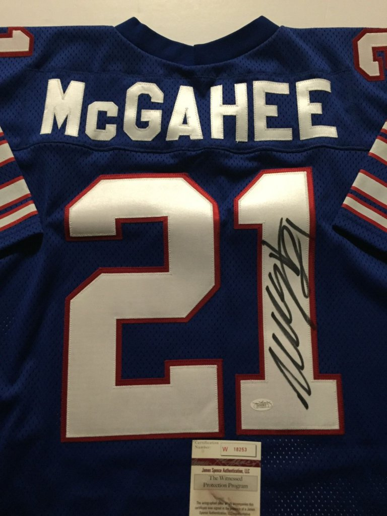 official photos 93dbb b988b WILLIS MCGAHEE AUTOGRAPHED Buffalo Bills JERSEY » Budd's Collectibles