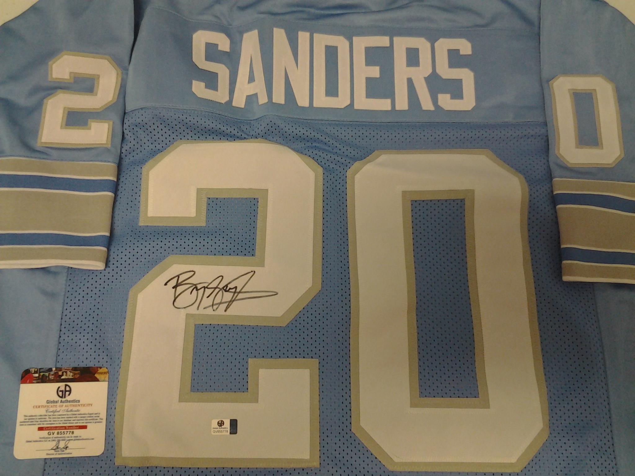 meet a15df e76ec Barry Sanders Detroit Lions signed autographed Jersey