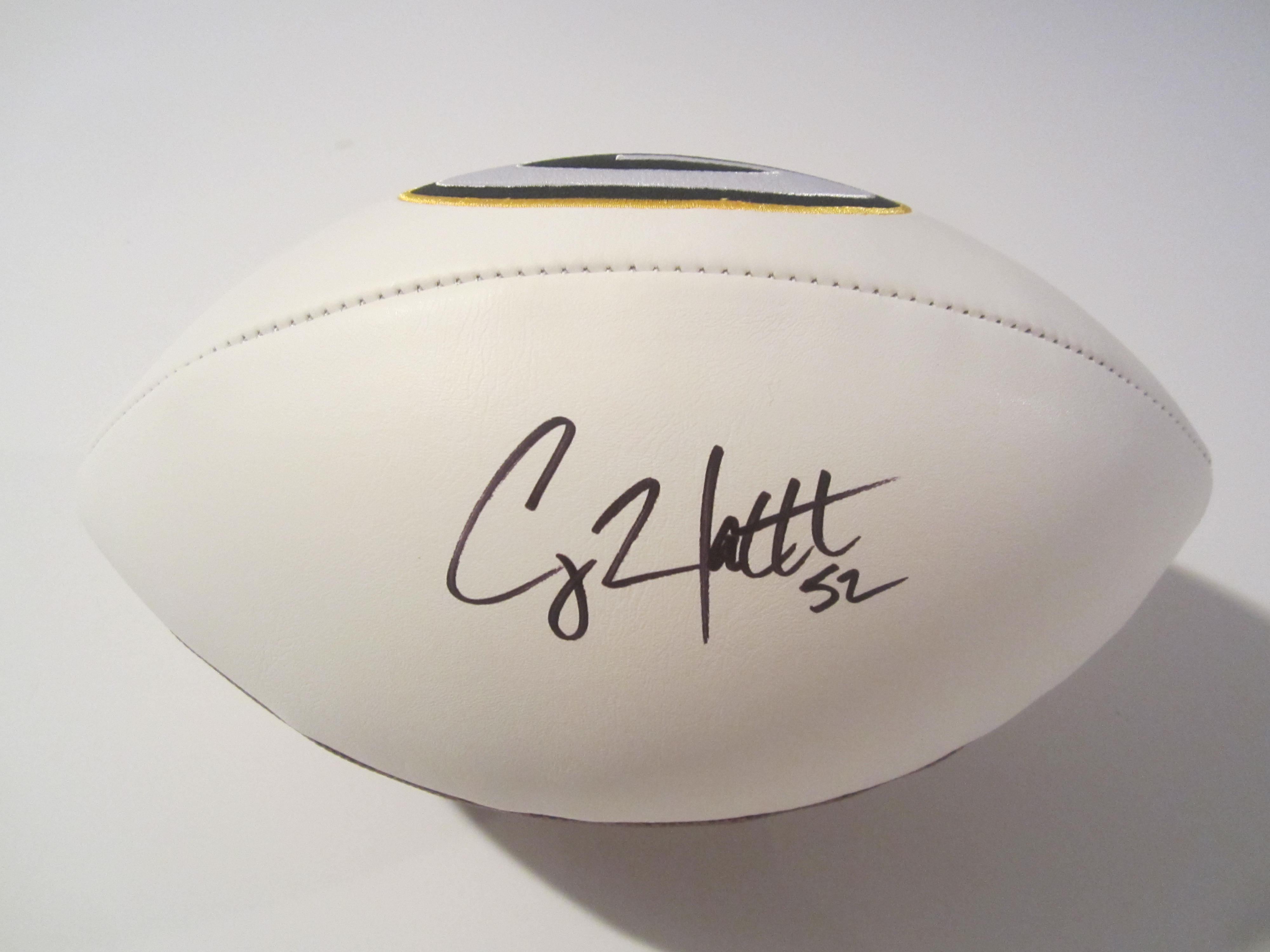 size 40 c683a c8e5b Clay Matthews Green Bay Packers Hand Signed Autographed Logo Football