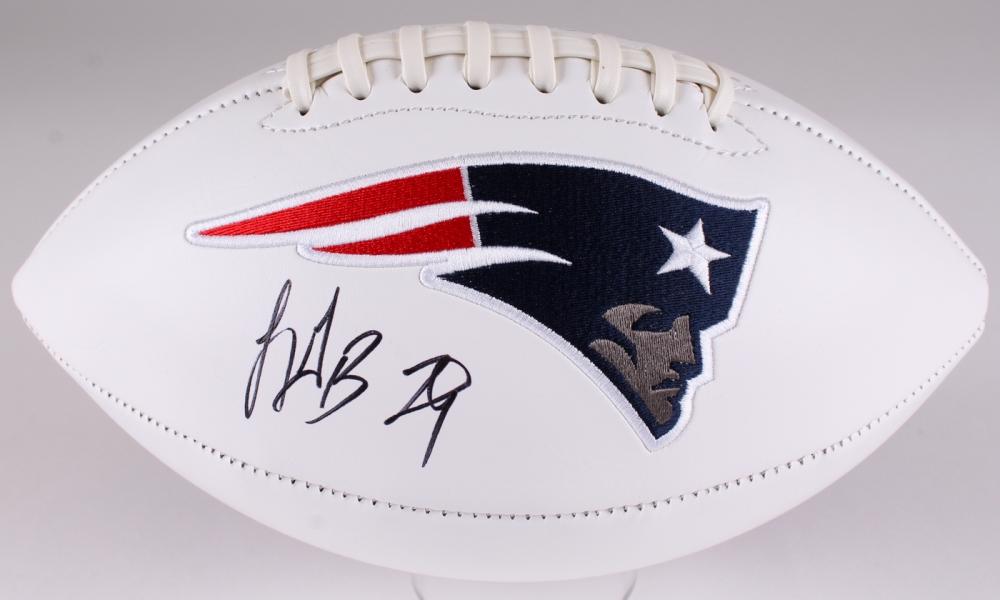 Legarrette Blount Autographed New England Patriots Logo Football