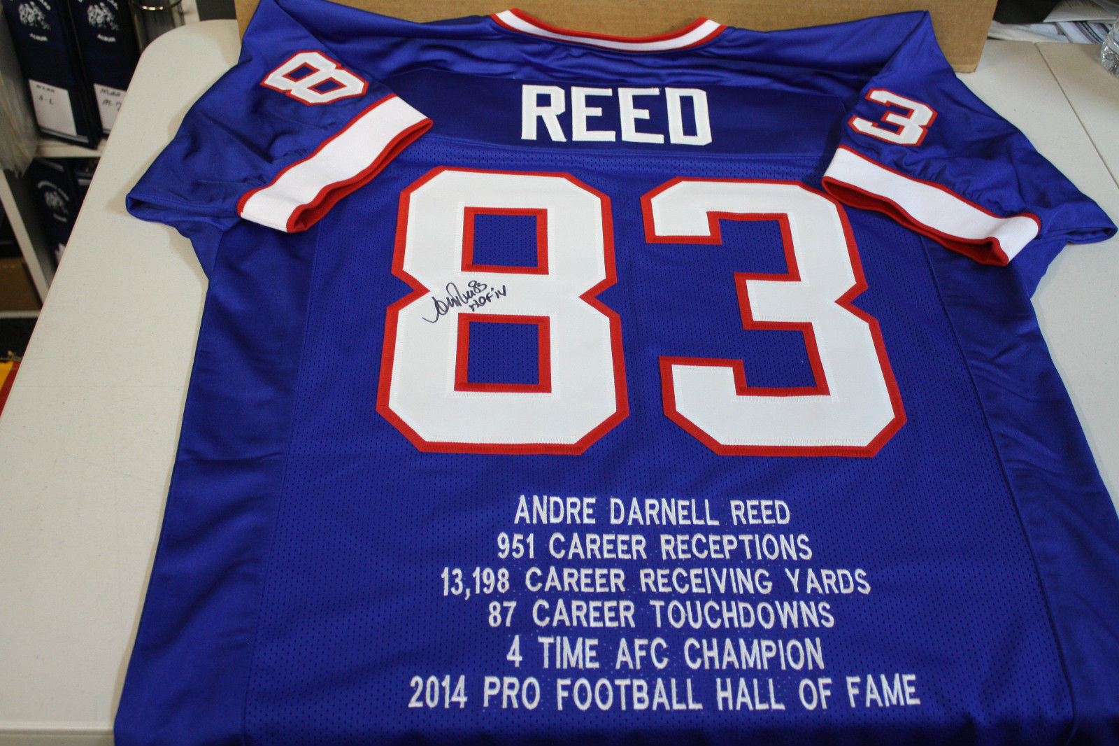 b9c9eb40 ANDRE REED SIGNED BUFFALO BILLS STATS JERSEY » Budd's Collectibles