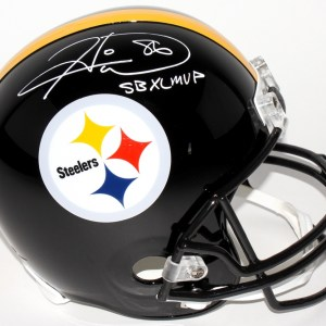 Hines Ward Signed Pittsburgh Steelers Full-Size Helmet