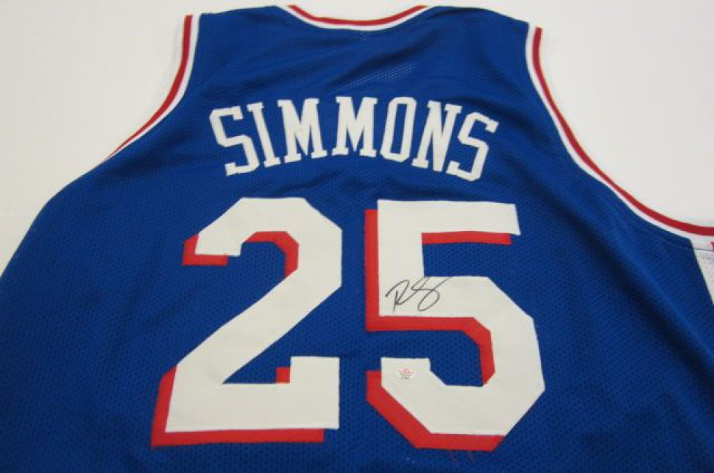 info for 7c1b7 643bb Ben Simmons Philadelphia 76ers signed Jersey » Budd's Collectibles