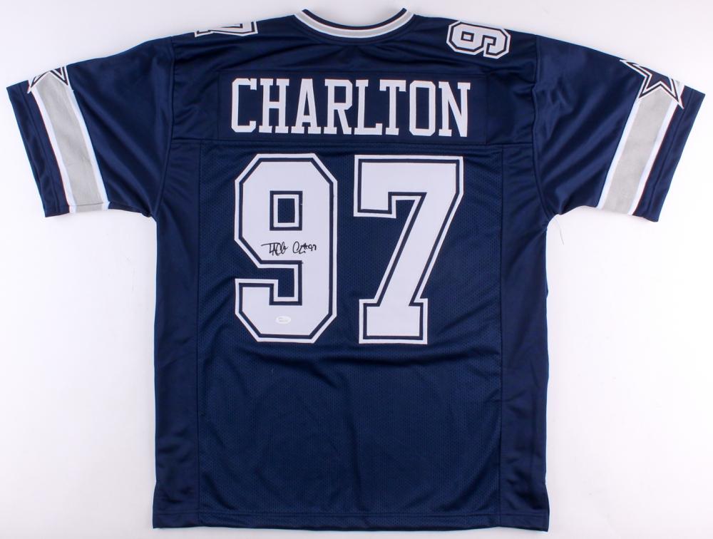 74ee63eeb2c Taco Charlton Signed Dallas Cowboys Jersey