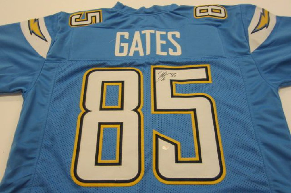 san francisco 62d22 f0347 Antonio Gates San Diego Chargers signed football jersey » Budd's  Collectibles