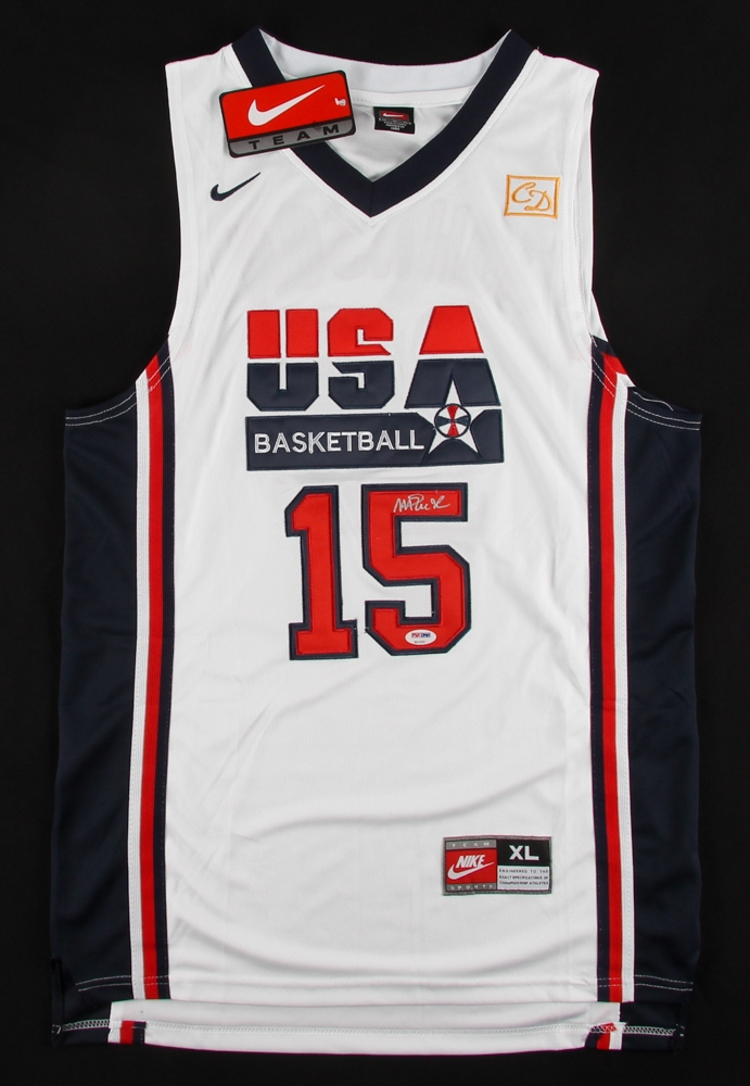 273d36cbfe6 Magic Johnson Signed Team USA Nike Jersey » Budd s Collectibles