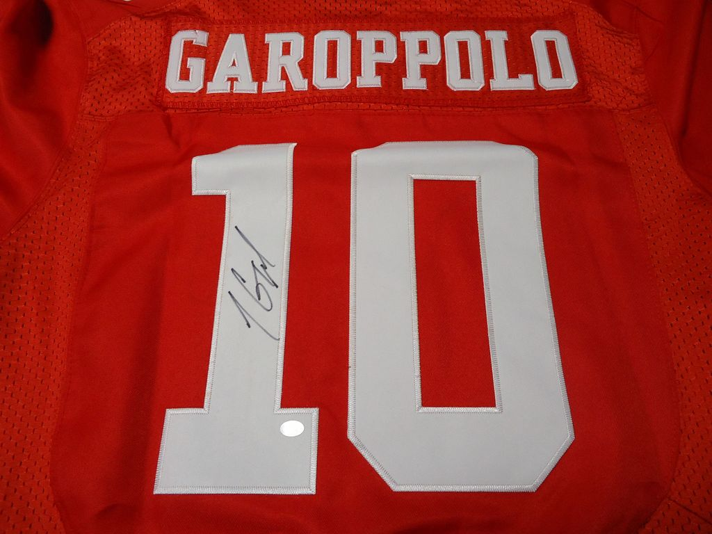 Cheap Jimmy Garoppolo of the San Francisco 49ers Signed football jersey