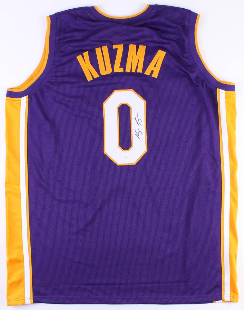Kyle Kuzma Signed Autographed Jersey Los Angeles Lakers JSA