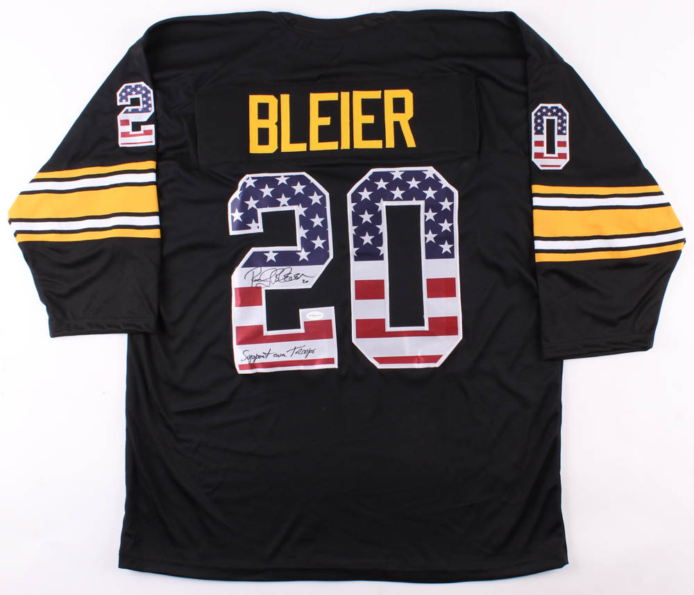 pretty nice 7e27b 92cc9 Rocky Bleier Signed Pittsburgh Steelers American Flag Jersey » Budd's  Collectibles