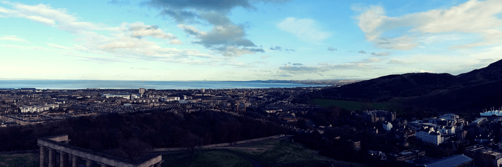 The view from Nelson Monument in Edinburgh