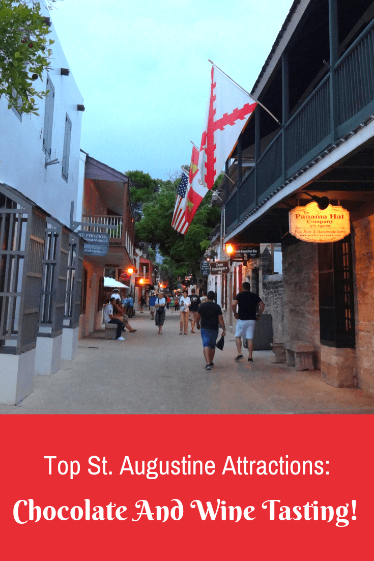 What are our two favorite St. Augustine attractions? A tour of a famous chocolate factory and a free wine tasting at an acclaimed winery!