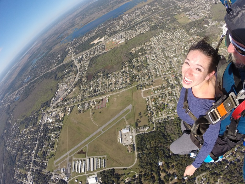 skydiving in Titusville, Florida