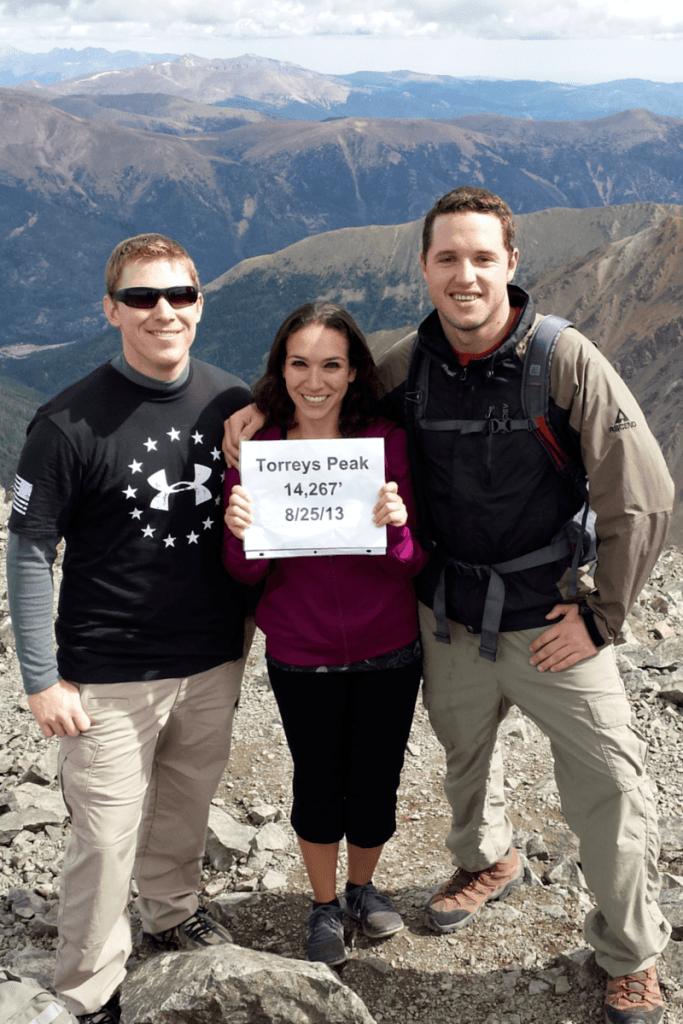 At the top of Torreys Peak