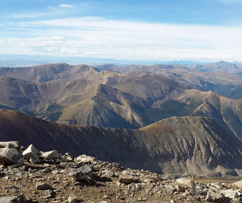 The view from the top of Torreys Peak