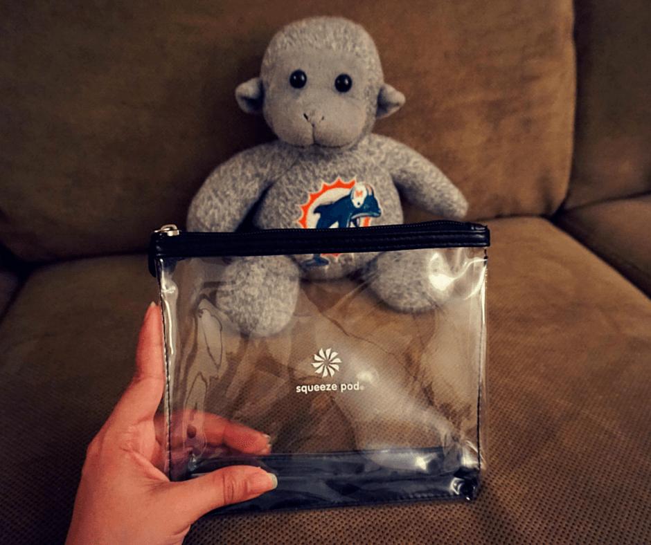 Buddy The Traveling Monkey Sqeeze Pod