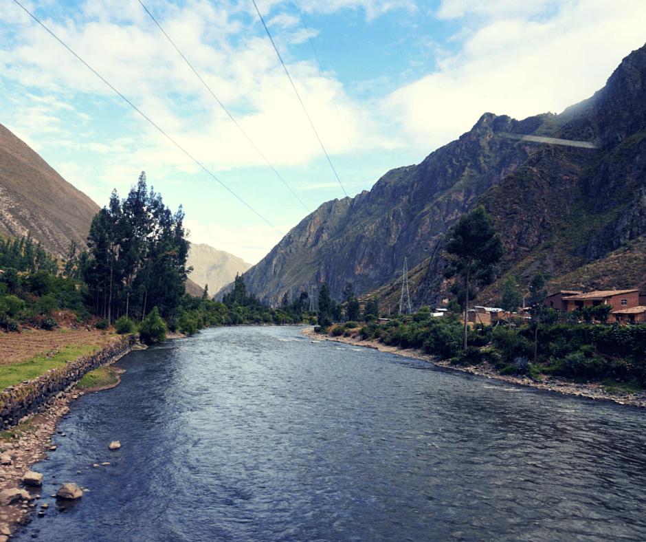 Views from the train heading to Machu Picchu